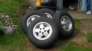 """15"""" Tires on Jeep Alloy Rims/Set of Five"""