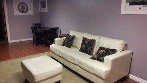 TODAY ONLY WHITE LEATHER COUCH Cambridge Kitchener Area image 1
