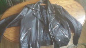 woman's leather jacket.