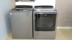 Whirlpool High Efficiency Washer and Dryer Team with Steam