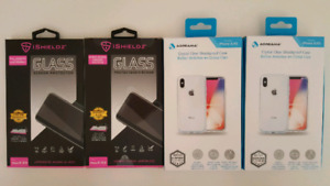 Iphone X/XS Crystal Clear Case & Tempered Glass Screen Protector