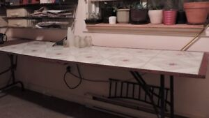 8 ft + long work table