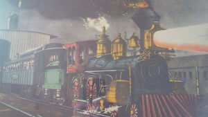 Vintage Print in Frame: The Night Express: The Start - Train Kitchener / Waterloo Kitchener Area image 5