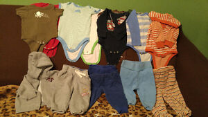 Baby boy tops and pants lot 3-6 months