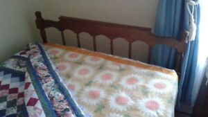 """48"""" wide Bed, c/w Mattress and Box Spring"""