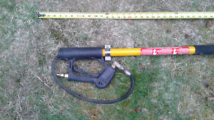 18' extension pressure washer wand.