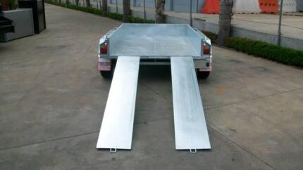 8 x 5 Galvanised Tandem Trailer w Ramps 1990kg cap LIMITED OFFER