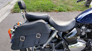 Triumph America/Streetmaster Leather Saddle Bags & Shield