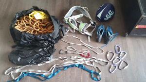 Various Outdoor Climbing Equipment