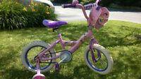 "Disney Princess 14"" Bicycle with training wheels"