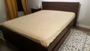 Ikea Queen bed and side tables