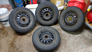 175/65/14 Goodyear Winter Tires + Rims 4x100 No leaks
