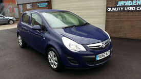 2012 VAUXHALL CORSA 1.3 CDTi 16v ecoFLEX,5 DOOR,EXCLUSIVE,1 OWNER