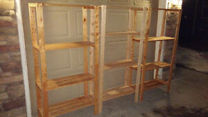 Three Shelving Units - Can Deliver