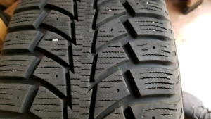 215 60 16 5x105 WINTER TIRE TIGER WITH RIMS SET OF 4 80%+ LIFE