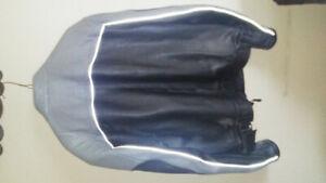 Leather Jacket - mens grey Size large