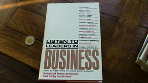 Listen to Leaders in Business, 1963 Kitchener / Waterloo Kitchener Area image 1