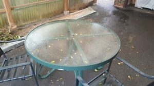 Green Outdoor Patio Furniture (Table and 2 Chairs)