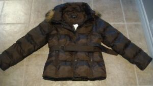 New with tags Brown puffy coat