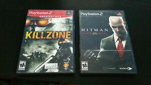 PS2 Games - Killzone, Hitman Blood Money