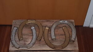VINTAGE PITCHING HORSESHOES CANADIAN ADVERTISING COLLECTIBLE $55