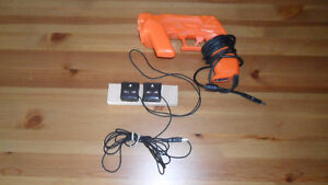 PLAYSTATION 3 PS3 - GUNCON 3 & RECEIVERS, POWER CORD & TV CORD