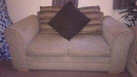 Brown 2 seat sofa