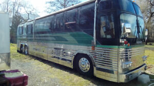 Prevost bus conversion trade swap for custom houseboat