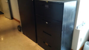 "Two 4.5 ft tall, 18"" deep lateral filing cabinets $100 each"