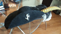 Feathered felt hat - cavalier, musketeer, pirate, LARP, SCA