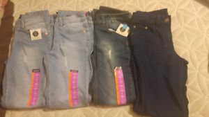 3 pairs of sizee 10 girls jeans and 1 pair size 12 girls jeans