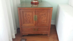 Chinese Rosewood furniture end side table chest 2 available