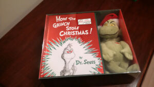 How the Grinch Stole Christmas Book and Grinch .. new