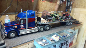 Rc Tamiya 1/14th scale tractor trailer