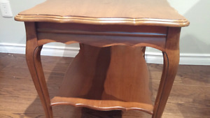 Large Solid Wood Vintage End Table/Coffee Table