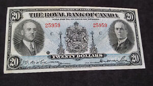 Royal Bank Of Canada Twenty $20 Dollars Banknote---Coins