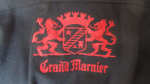 Grand Marnier  red and black Suede & wool Bomber  jacket