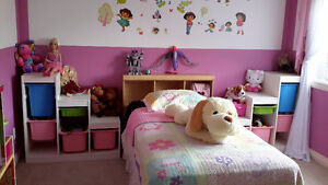 kids bed with box and mattress