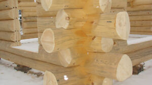 Handcrafted log home shell-diamond cut notches_ Cornwall Ontario image 5