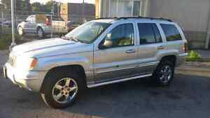 2004 JEEP GRAND CHEROKEE OVERLAND AWD CERTIFIED AND ETESTED!!