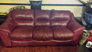 FREE LEATHER COUCH P/U ONLY