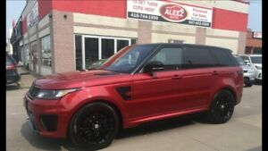 2016 Land Rover Range Rover Sport Sport SVR 550HP AWD RED BUCKET