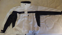 Columbia Large Men's White/Blue/Grey Removeable Shell Jacket