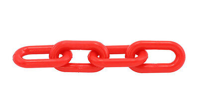 """Plastic Chain 6mm 1-1/2"""" X 50 Ft  - Red"""