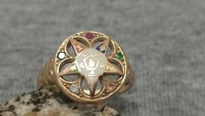14k gold The Order of the Eastern Star ring size 7 Masonic