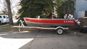 1989 14 ft lund deluxe fishing boat