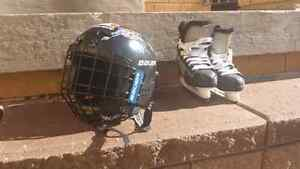 Toddler Skates and Helmet - Kids Bauer helmet and skates