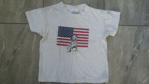 Assorted tshirts (Jamaica and USA) in size 2-4