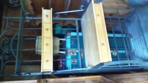 GORGEOUS MAPLE AND WROUGHT IRON BAKERS RACK WITH 6 DRAWERS