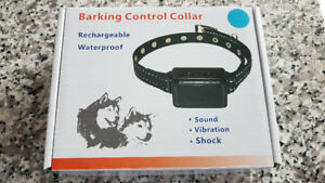 Rechargeable and waterproof anti-bark collar